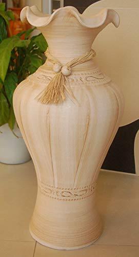 Deko-Shop Hannusch Edle große Vase/Bodenvase aus Tonkeramik +Handarbeit+