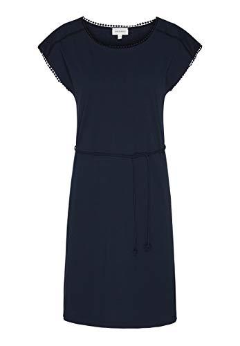 ARMEDANGELS Damen Kleid aus Bio-Baumwolle - ALINAA - L Dark Navy GOTS, Organic, CERES-08 (Solid-jersey-kleid)