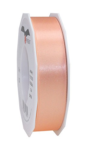 Prasent C.E. Pattberg GmbH 25 mm 25 m Satin Double Face Band Rolle, apricot -