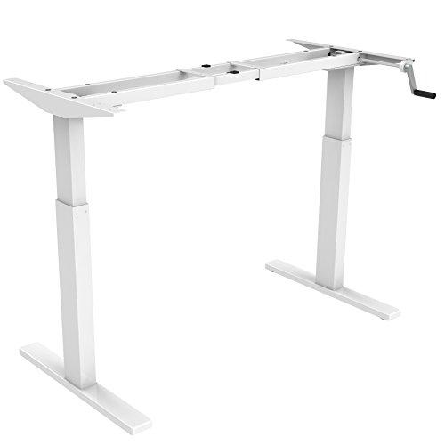 FLEXISPOT H2W Höhenverstellbarer Schreibtisch Kurbelverstellbares Tischgestell, Passt für Alle...