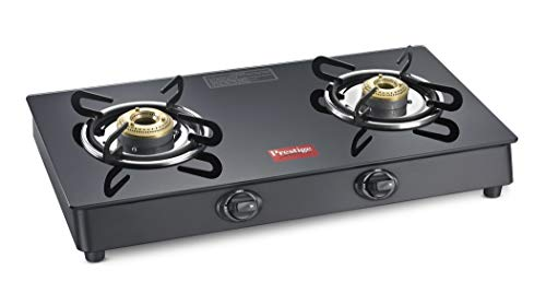 Prestige Marvel Plus Glass 2 Burner Gas Stove (Black)