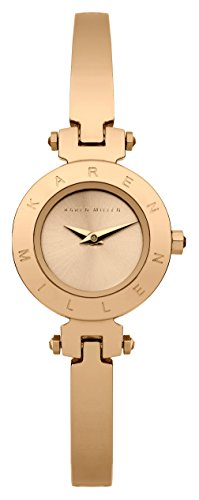 INTELIHANCE. KM115RGM - Reloj de cuarzo para mujer, correa de acero inoxidable chapado en oro rosa color oro rosa