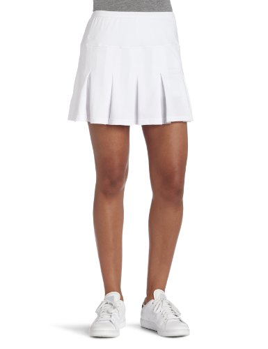 Bollé Damen Essential multi-pleat Tennis Rock, damen, weiß, S (Shorts Bolle)