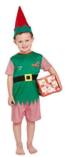 Santa's Kleine Helfer Elfen Weihnachten Kostüm - Kleinkinder (3 - Santas Kleiner Helfer Kostüm