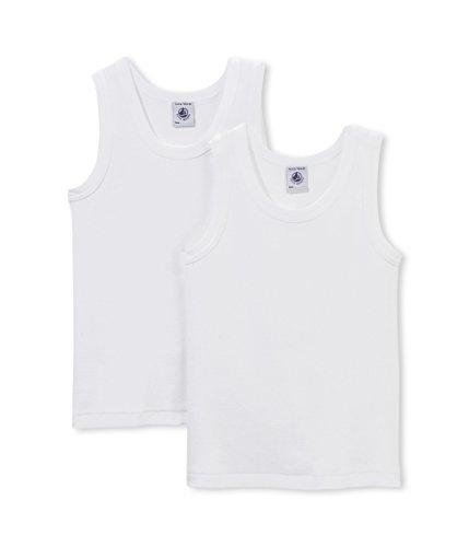 Petit Bateau Jungen Unterhemden Lot 2p Debardeur, 2er Pack, Weiß (SPECIAL LOT 00), 128 (Herstellergröße: 8A) (Bateau Petit Unterhemd)