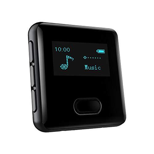 Bluetooth MP3 Player Sport 16 GB MP3 Player Clip mit Schrittzähler, Laufen Wandern Sprachaufzeichnung