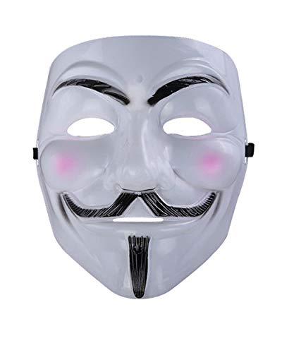 OENKIKIN Halloween Horrorfilm Thema V Vendetta Maske V Geeks V Gesicht Maskerade Maske Halloween Kostüme und Masquerade Cosplay Design