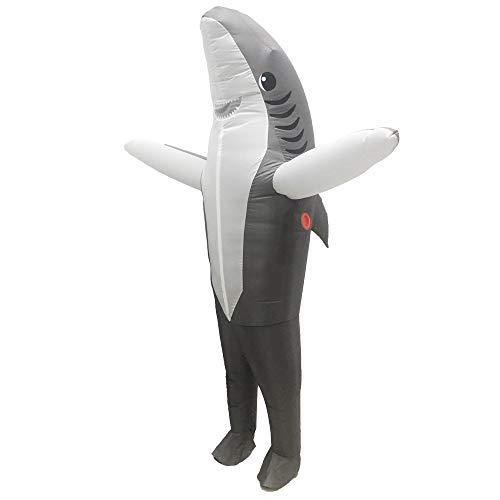 Hunde Trex Kostüm - Hai Schlauchboote Halloween Birthday Party Supplies Kostümfest Kostüme, Cosplay Kostüme, Spielzeug Overalls, Geeignet für Höhe 150-190Cm,Grau