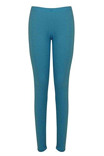 Damen Schlicht Einfach Hosen Damen Knöchellang Stretch Leggings Jeggings Blaugrün
