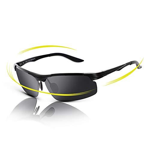 bcdd351ca7 -28% fawova Gafas de Sol Deportivas Hombre Polarizadas,Gafas Running Hombre  con Aluminio Ultraligero,.