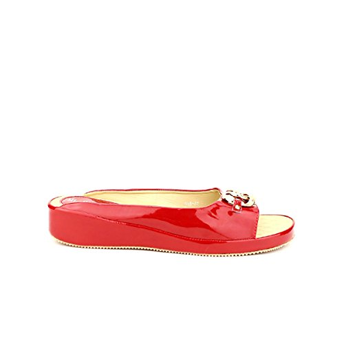 Cendriyon Mules Rouge Vernies ML Shoes Chaussures Femme Rouge