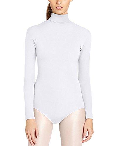 perkostüm Halloween Kostüm Bühnenaufführung Overall Bodysuit Weiß XL (Weiße Halloween-kostüm Bodysuit)