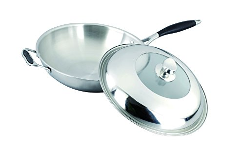 Gourmet Chef SC-SS530 Tri-Ply Stainless Steel Wok, 12-Inch by Gourmet Chef