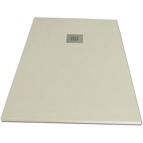 Plato ducha resina Slate. 80x150cm. Beige Ral. 1015.