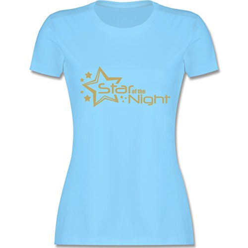 JGA Junggesellinnenabschied - Star of The Night - XL - Hellblau - L191 - Damen T-Shirt ()