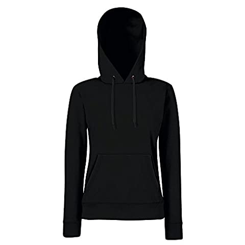 Fruit of the Loom - Lady-Fit Hooded Sweat S,Black