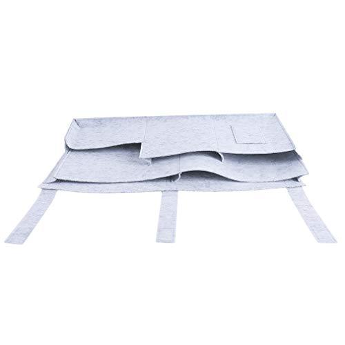 L_shop Hängende Aufbewahrungs-Organisator-Tasche Klettverschluss Nachtaufbewahrungstasche Gewebe-Maschen-Aufbewahrungstasche für Etagenbetten und Krankenhausbetten