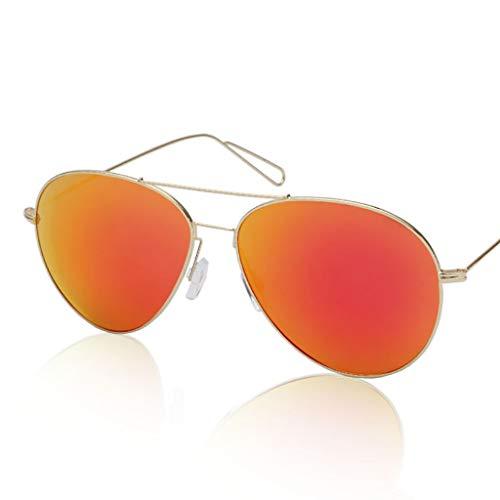 KISlink Sonnenbrille Ultraleichte Metall-Sonnenbrille mit großem Rahmen/Heller Farbfilm Männer und Frauen reflektierende Sonnenbrillen Brillen (Farbe: 2)