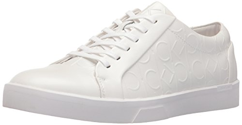 calvin-klein-igor-brushed-ck-emboss-sneakers-basses-homme-blanc-weiss-wht-41-eu