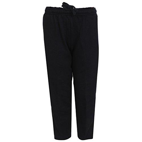 HAIG-DOT Unisex Black Open Bottom Track Pant