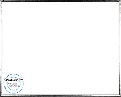 Amsterdam Bilderrahmen Posterrahmen Farbe Silber Antik 60 x 85 cm hochwertiger Kunststoff mit unzerbrechlichem glasklarem APET Kunstglas UV beständig 85 x 60 cm