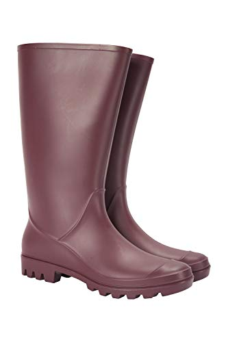 Mountain Warehouse Splash Womens Wellies - Waterproof Ladies Wellington Boots, Textile Lined Rain Shoes, EVA Cushion, Sturdy Grip - Ideal for Festivals, Garden, Walking