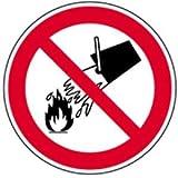 Aufkleber Verbotsschild Verboten mit Wasser zu löschen