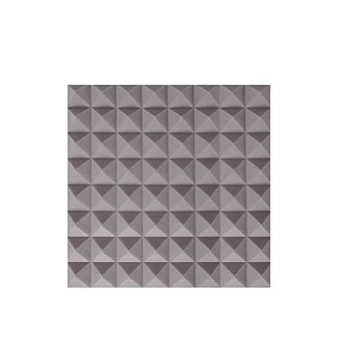 Baumwolle Kissen Panel (C-J-Xin 10 STÜCKE Akustikplatten mit hoher Dichte, Innenklavierraum Trommel Zimmer Büro Studio Umweltschutz schallabsorbierende Baumwolle Akustische Panels im Aufnahmestudio (Color : Gray))