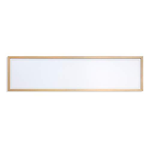 Holz-quadrat-lampe (Deckenlampe Holz Quadrat 120x30 cm AUFPUTZ // Decken Lampe Holzlampe Loft Vintage Industrie Warmweiß 3000K)