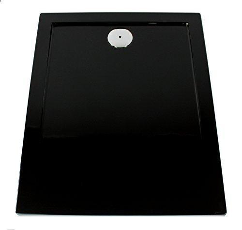 duschwanne 120 Art of Baan–Extra flache Duschtasse, Duschwanne aus Acryl, Glatt Schwarz; 120x 80x 3,5cm inkl. Ablaufgarnitur