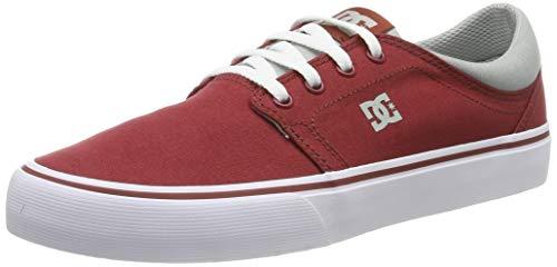DC Shoes Trase TX, Scarpe da Skateboard Uomo, Rosso (Dark Red DKR), 43 EU