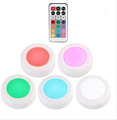 Fünf Licht Wandleuchte Strip (PMFSRgb 12 Farben Dimmbar Led Unter Kabinett Licht Touch Sensor Led Puck Lichter Wandleuchte Fo Veränderbar 5 lampe 1 controller)