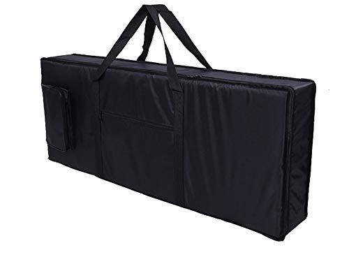 Lawei Keyboardtasche 61 Tasten Tragbar Keyboard Tasche Gepolstert Gig Bag - 100 x 40 x 15cm, Schwarz