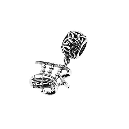 Hamilton and Young Charm-Anhänger aus Sterlingsilber, traditionelles schottisches Design