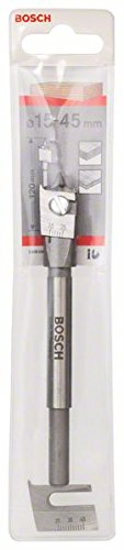 Bosch 2 608 596 333 - Broca fresadora plana ajustable, hexagonal - 15-45 mm, 120 mm (pack de 1)