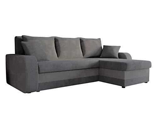 Mirjan24  Ecksofa Kristofer Lux, Eckcouch Couch! mit Schlaffunktion, Zwei Bettkasten, Farbauswahl, Wohnlandschaft! Bettfunktion! Design L-Form Sofa! Seite Universal!