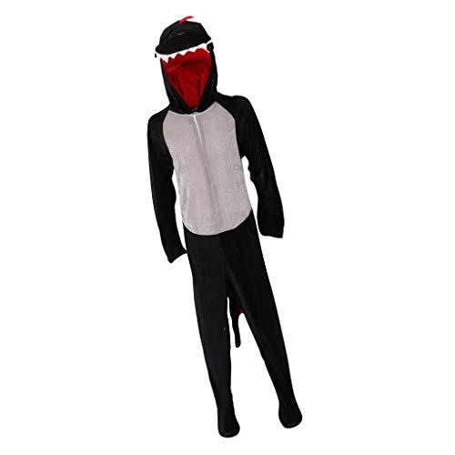 IPOTCH Ganzkörper Tier-Kostüm für Kinder, Einteiler Overall Jumpsuit für Halloween Karneval - Dinosaurier, Einheitsgröße