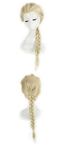 Beauty Smooth Hair Mädchen Braids Cartoon-Animation Cosplay Kinderperücke Nur for Kind Perücke (beige)