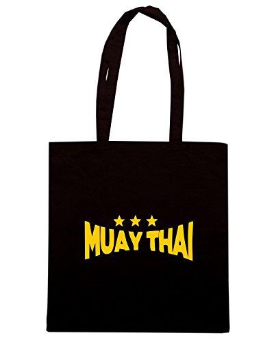 T-Shirtshock - Borsa Shopping TBOXE0093 Muay Thai Nero