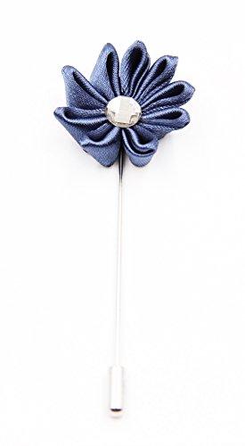 Novel Ansteckblume | Blumenpin | Anstecknadel | Accessoire für den Anzug | in verschiedenen Farben (Blau)