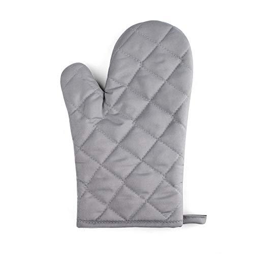 PZKSN Ofenhandschuhe 2 Stück Silber Hitzebeständige Küche T/C/Tuch Ofen rutschfeste Handschuh Verdickung Ofen Handschuhe Hohe Temperatur (Baseball-handschuh-ofen-handschuh)