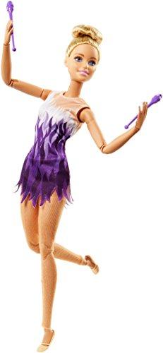 Barbie Quiero Ser gimnasta rítimica, muñeca articulada (Mattel FJB18)