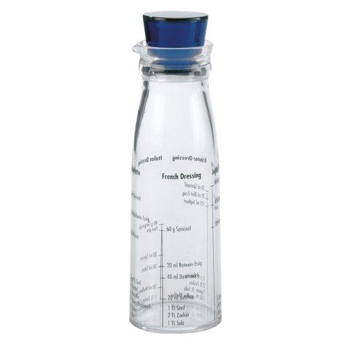 Dressingshaker 300ml Acryl mit blauem Deckel ø62x200mm
