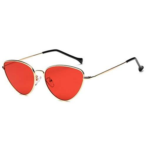 Sonnenbrille Fashion Cat Eye Gold Rot Sonnenbrille Getönte Farbe Objektiv Vintage Sonnenbrillen Für Frauen Design Legierung Von Frame Frauen Gläser Uv 400