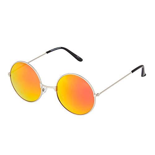 Ultra Marco Dorado Lentes Naranja Quemado Gafas Sol