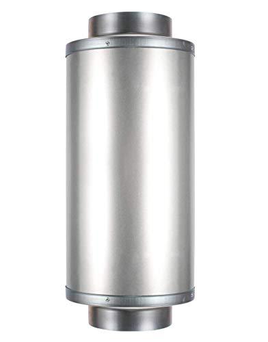 Hon&Guan Rohrschalldämpfer, Schalldämpfer für Abluftventilator Belüftungssystem (100mm) -