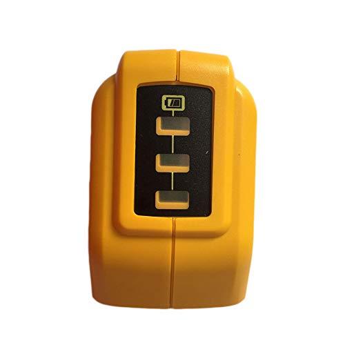 Eleganantstunning USB Konverter Ladegerät für Dewalt 14,4 V 18 V 20 V Li-ion Akku Konverter DCB090 USB Gerät Ladeadapter gelb - Dewalt Volt 20 Usb