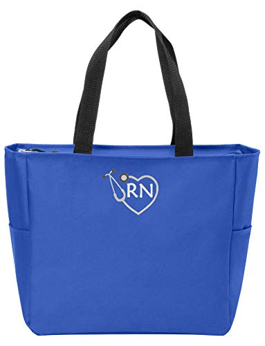 RN Nurse Tote Bag | Gift for Nurse (Royal)