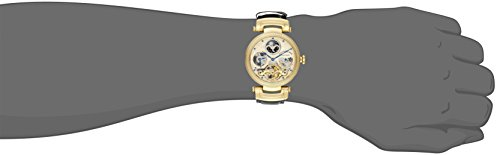 ef251c167 Stuhrling Original Men's 353A.333531 Magistrate Automatic Skeleton Dual Time  Gold Tone Watch