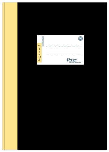 Ursus 608356 Registerbuch 2921B96LMR A4, liniert, 80 g/qm, 9 mm, 96 Blatt